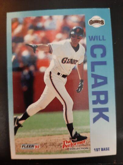 1992 Fleer Performer Will Clark #22 of 24