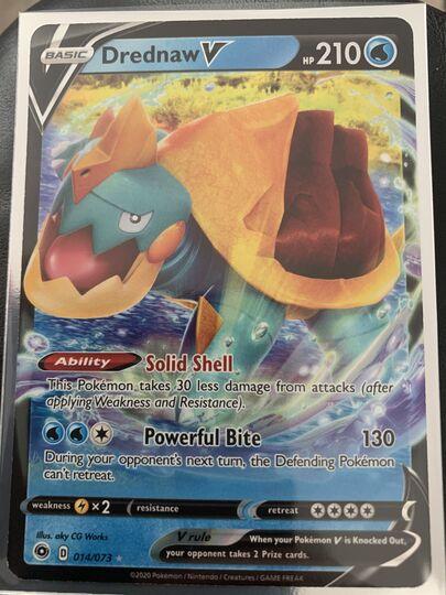 Pokémon Drednaw V Full Art Champion's Path 69//73 MINT