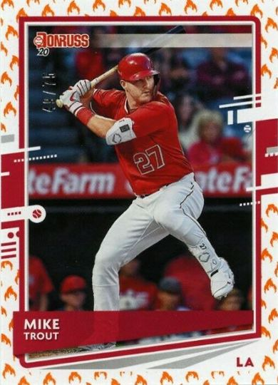 2020 Donruss Mike Trout Fire Emoji