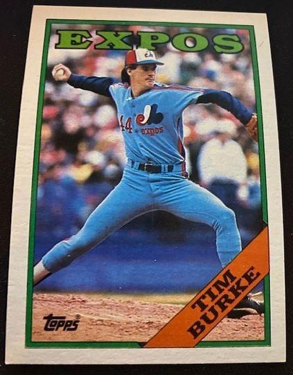 1988 Topps Expos Tim Burke 529