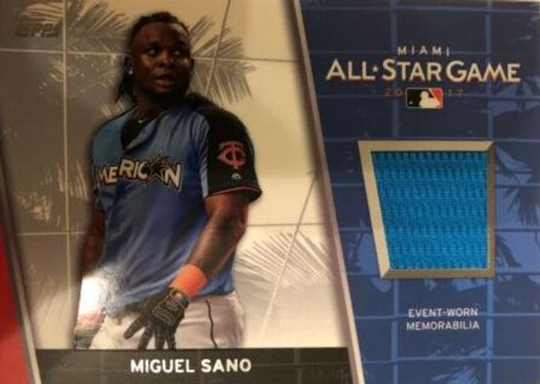 2017 Topps Update Miguel Sano Relic