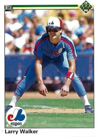 1990 Upper Deck Larry Walker #466 Rookie