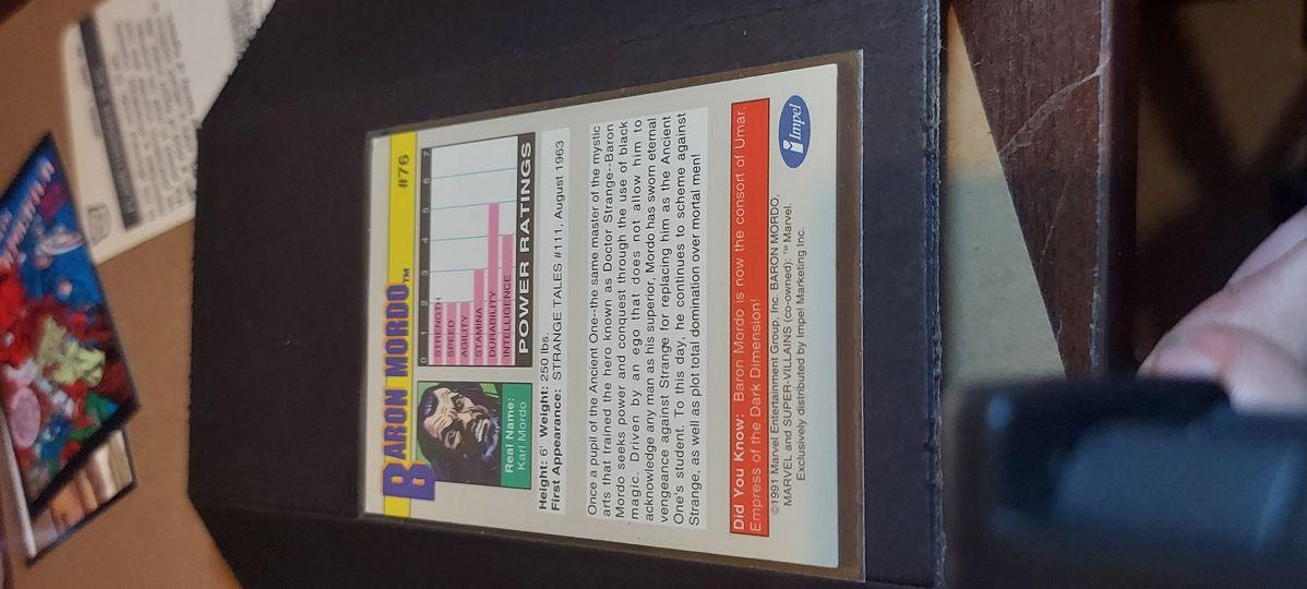 Baron Mordo # 76 1991 Marvel Universe Series 2 Impel Base Trading Card