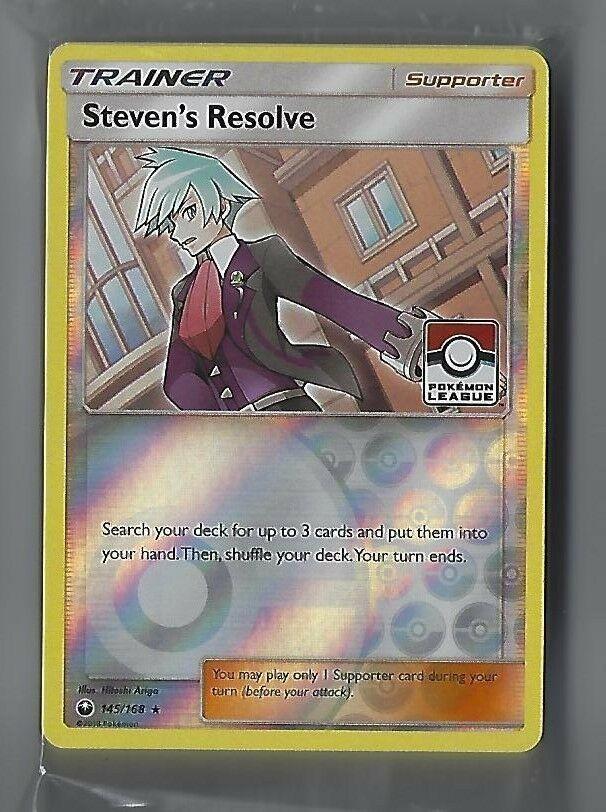 Steven/'s Resolve 145//168 Celestial Storm for Pokemon TCG Online Digital