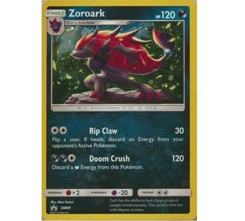 XY SHINING LEGENDS MINT OFFICIAL PIN Pokemon ZOROARK HOLO PROMO Card SM89