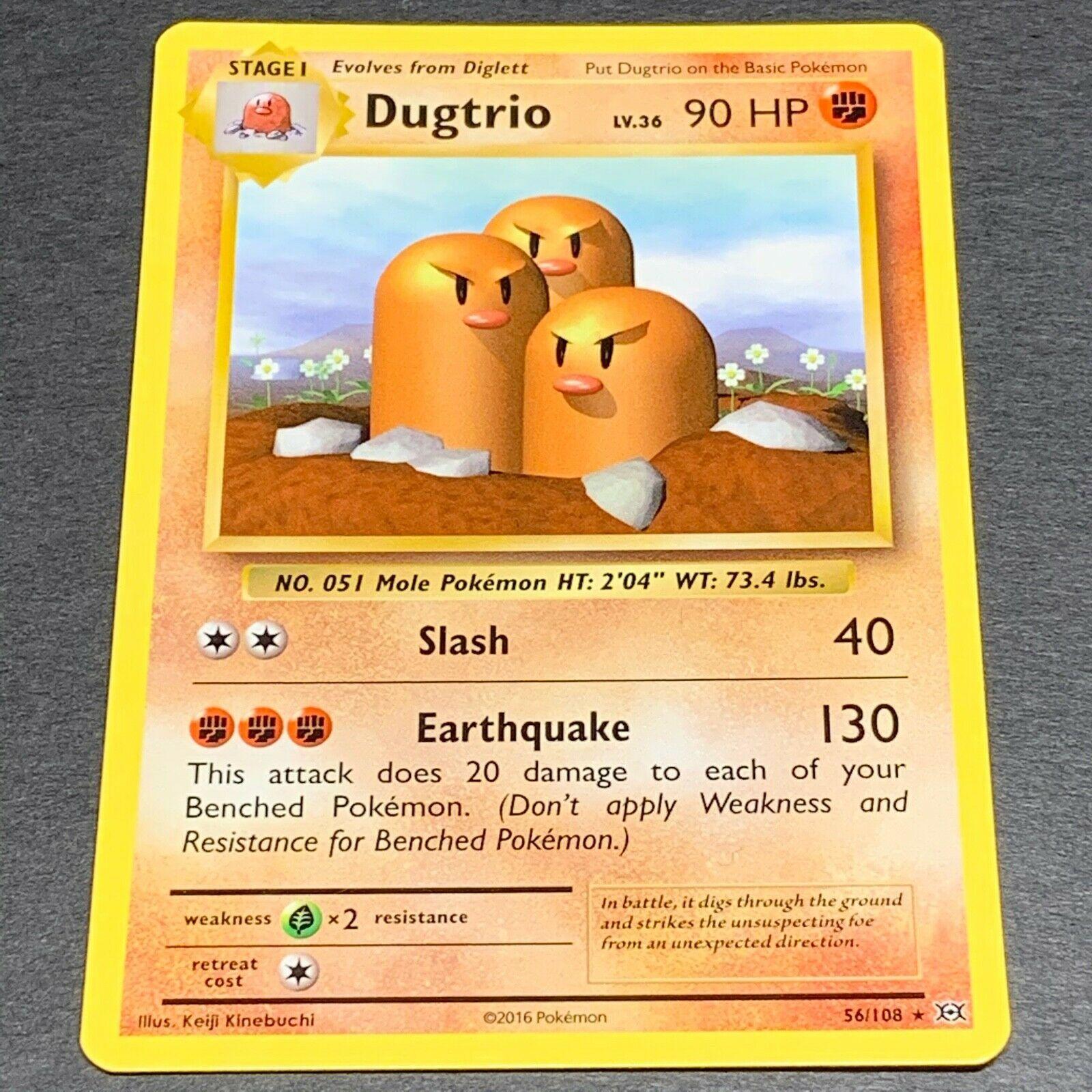 Dugtrio Rare Reverse Holo Pack Fresh Evolutions 56//108 Pokemon Card Mint