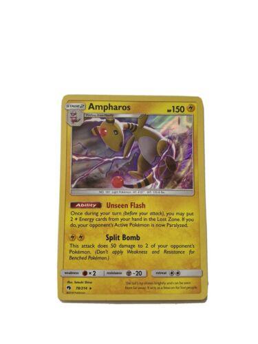 Ampharos 78//214 Holo Rare NM Sun /& Moon Lost Thunder 2B3