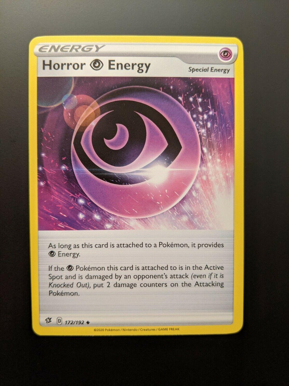 172//192 Horror P Energy Trainer Uncommon Reverse Holo Rebel Clash