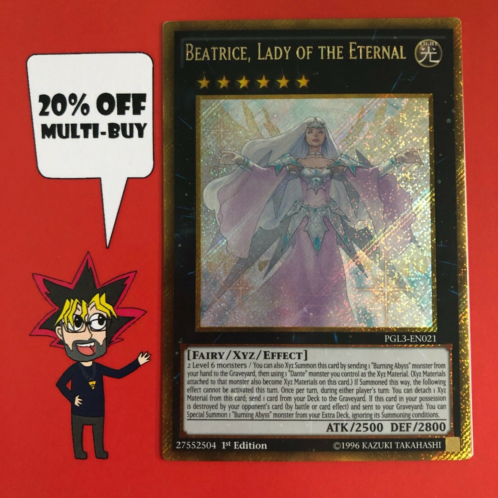 Lady of the Eternal PGL3-EN021 1st Ed Gold Rare NM Beatrice