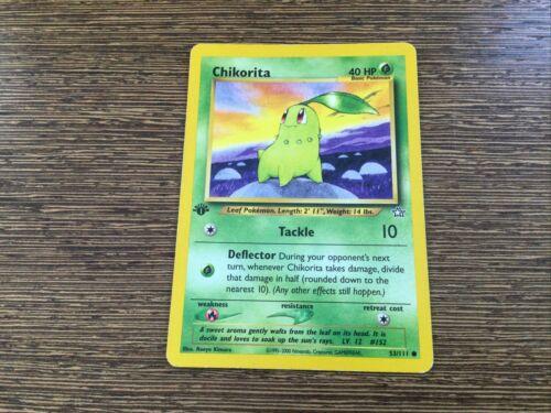 MINT Pokemon TCG Chikorita 53//111 WOTC Neo Genesis