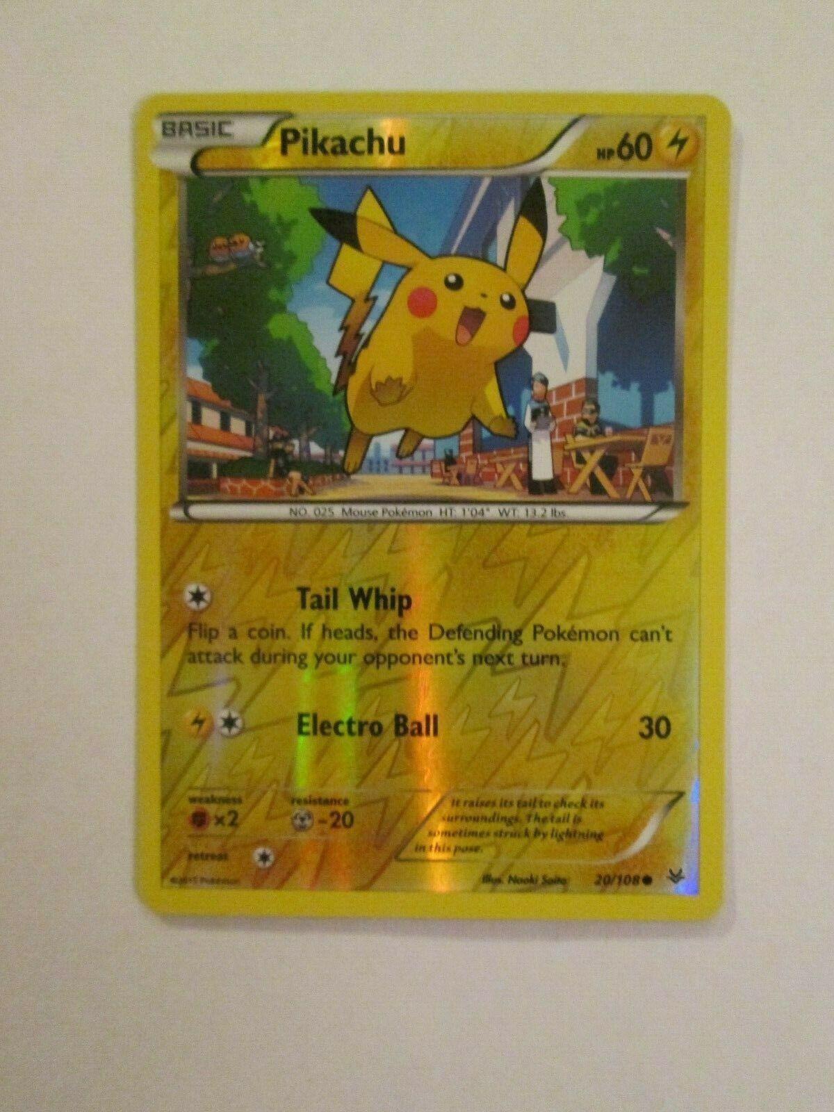 Pikachu 20//108 XY Roaring Skies Pokemon Card Non Holo Foil Card NEW