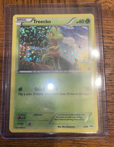 Pokemon McDonald's 2021 Holo Treecko 3/25, Sleeved Immediately, PSA