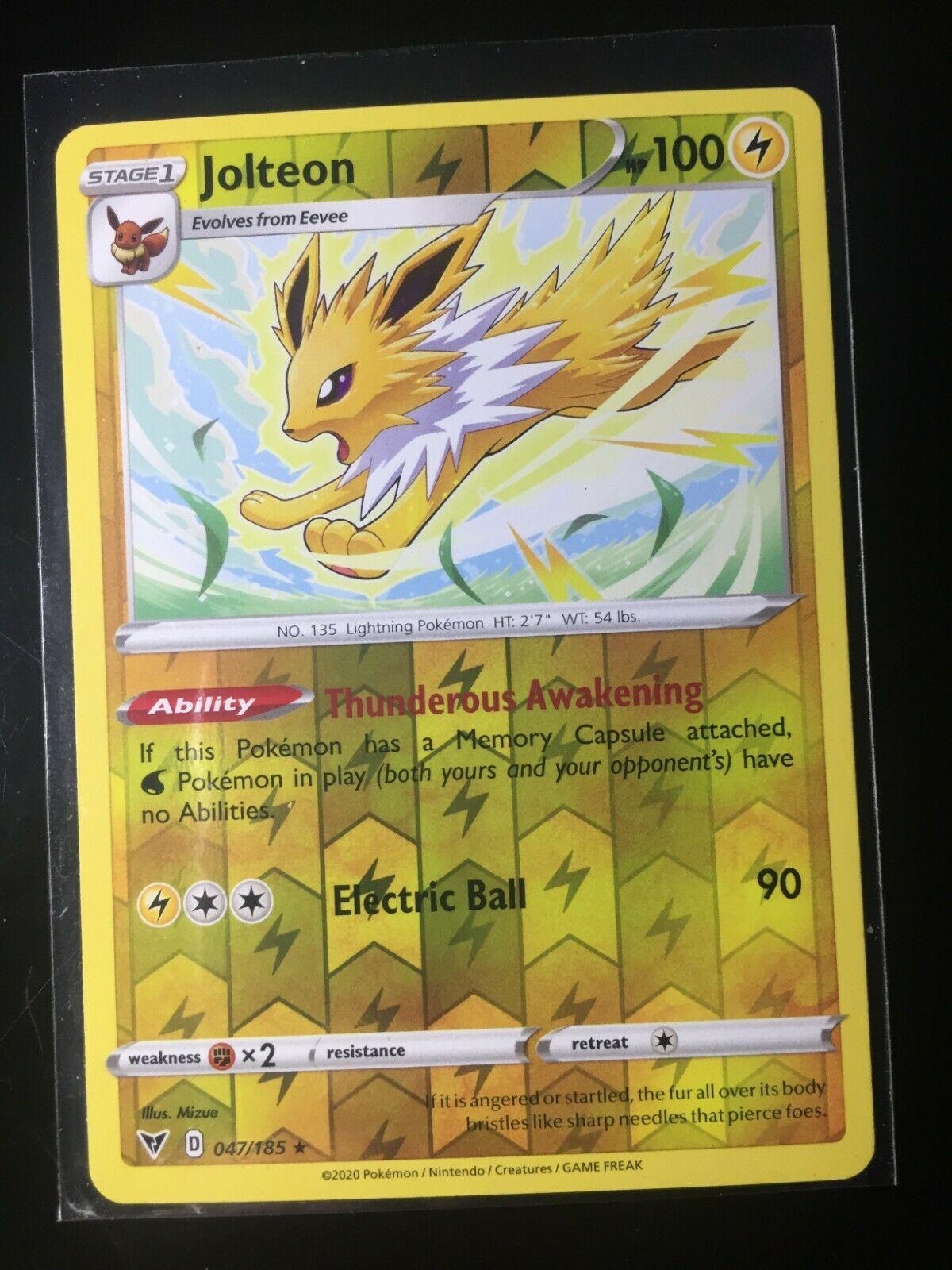 Jolteon 47//185 Reverse Holo Vivid Voltage Pokemon TCG