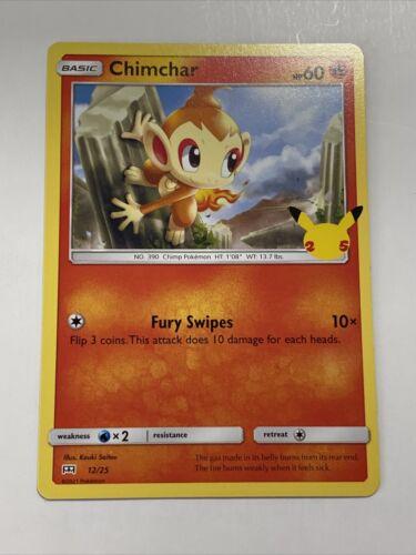 Pokemon McDonald's 25th Anniversary Chimchar Base 12/25 Promo Card 2021