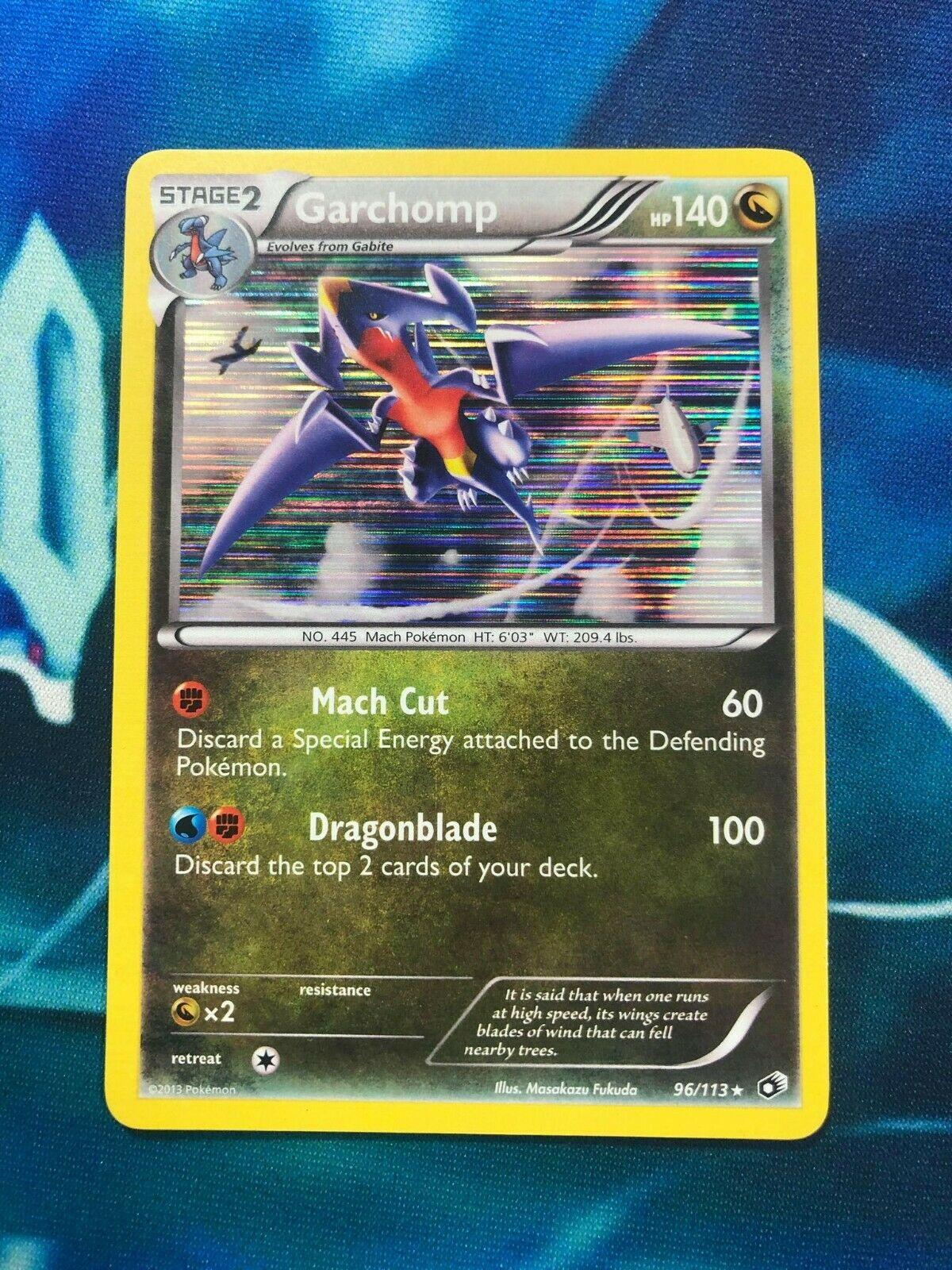 96//113 Legendary Treasures Pokemon 3DY Holo Rare NM B/&W Garchomp