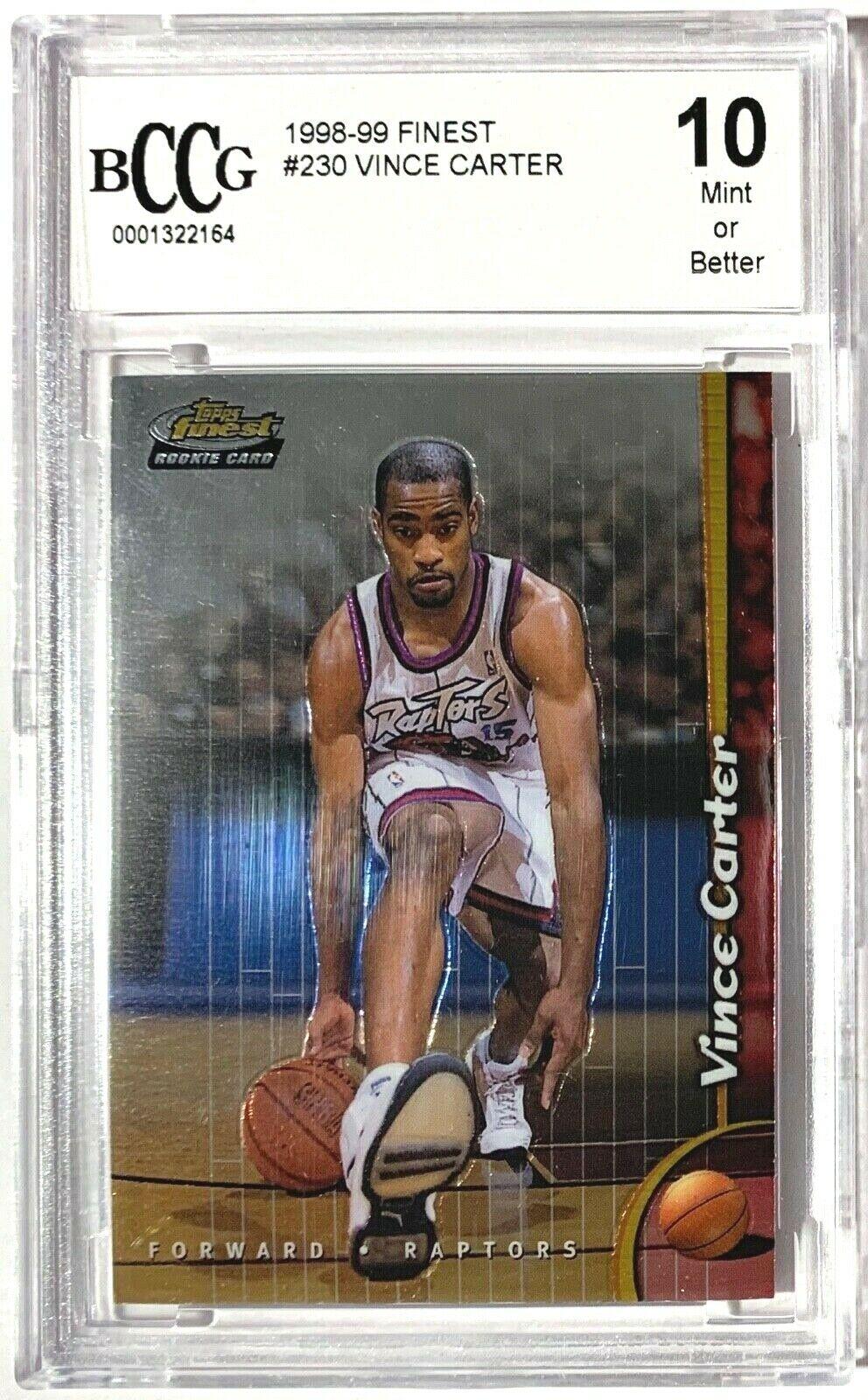 1998-99 Topps Finest Vince Carter #230 PSA 9 Rookie