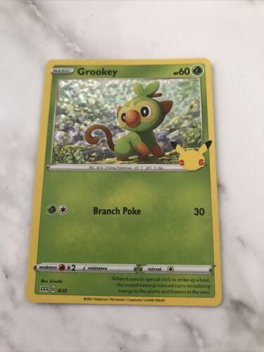 Holo Grookey (8/25) McDonald's Pokemon 25th Anniversary Promo Card