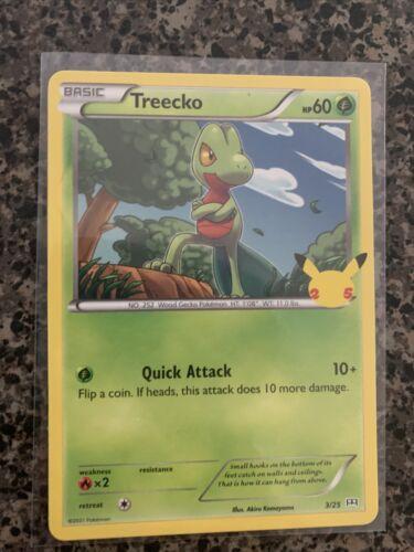 2021 Treecko 3/25 Pokemon 25th Anniversary Mcdonald's Non Holo Card