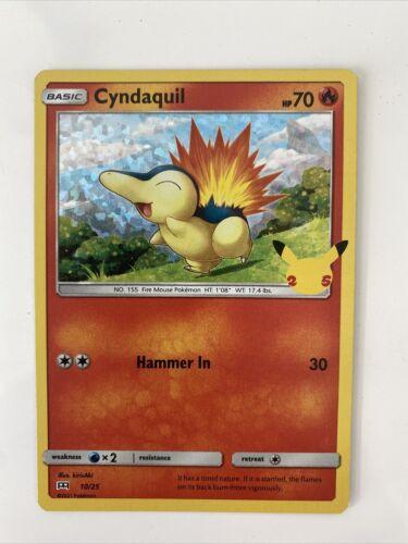 McDonald's 25th Anniversary Pokemon card # 10/25 HOLO Cyndaquil