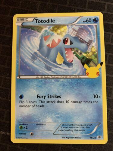 Pokemon McDonald's 25th Anniversary Stamped Promo Totodile 18/25 Non Holo NM