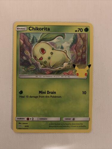 Pokemon Card Chikorita 2/25 Non-Holo McDonald's