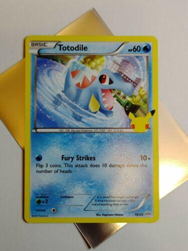 Totodile 18/25 25th Anniversary McDonald's Promo Pokemon Card MINT