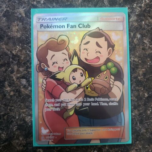 155//156 FULL ART RARE Pokemon TRAINER Card SM05 ULTRA PRISM POKEMON FAN CLUB