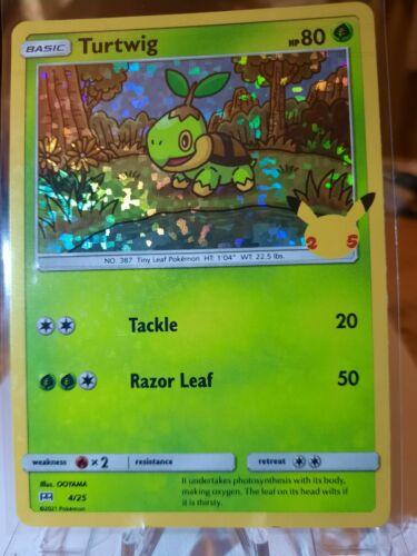 Pokemon McDonald's 25th Anniversary Turtwig 4/25 HOLO Card 2021 *FREE SHIPPING*