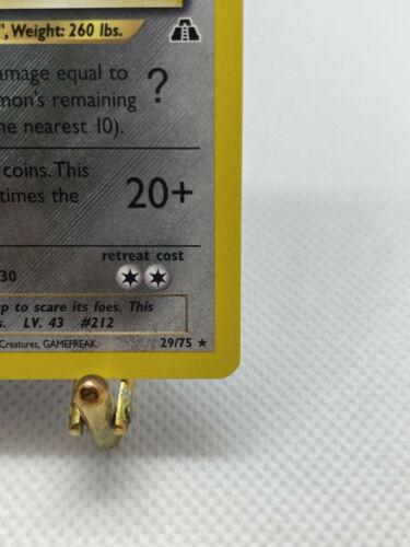 Pokémon Scizor Rare Non-holo Neo Discovery 29/75 Mint 🤤📈 - Image 6