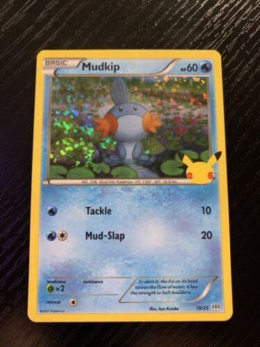 Mudkip 19/25 NM Mint 25th Anniversary McDonald's Promo Holofoil Rare Holo Card