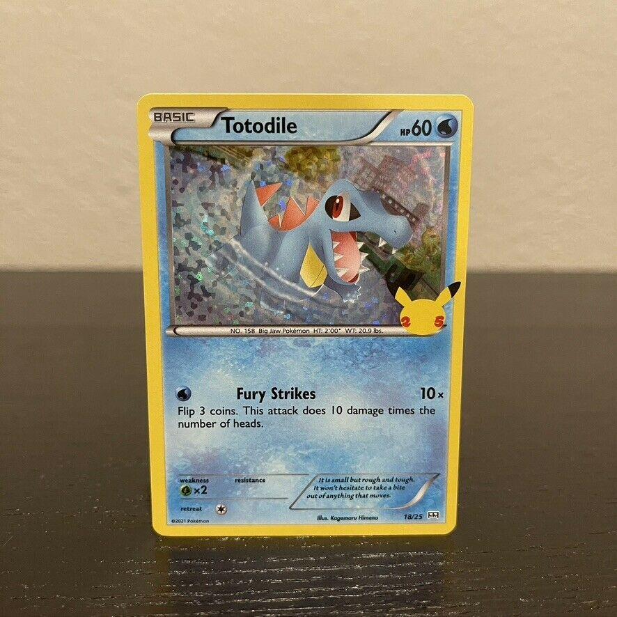 Totodile 18/25 (MINT) 25th Anniversary McDonald's Promo Holofoil Rare Holo Card