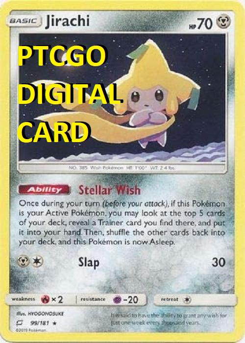 JIRACHI 99/181 PTCGO DIGITAL CARD Team Up Pokemon TCG Online NON HOLO