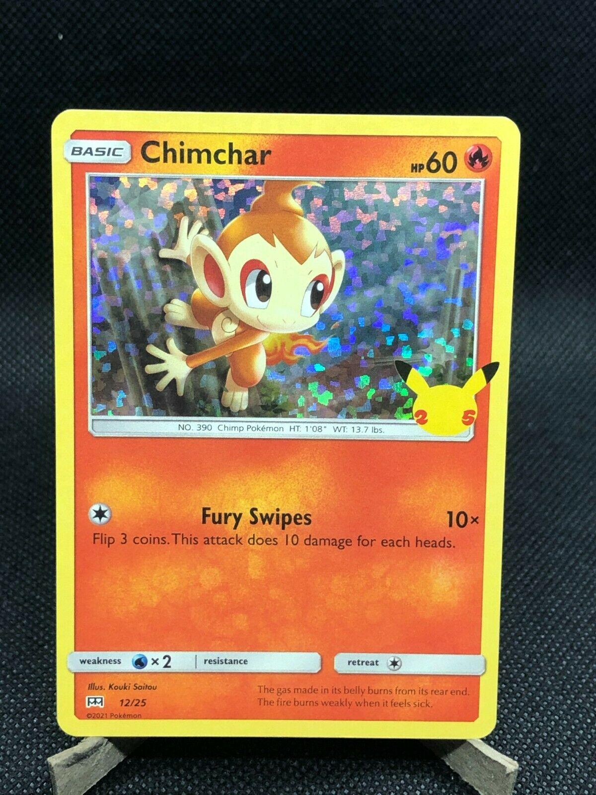 Pokemon Chimchar 12/25 Holo - McDonald's 25th Anniversary NM 2021