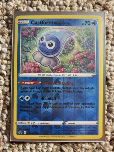 Castform Rainy Form 033/198 - Reverse Holo - Pokemon Chilling Reign - Mint