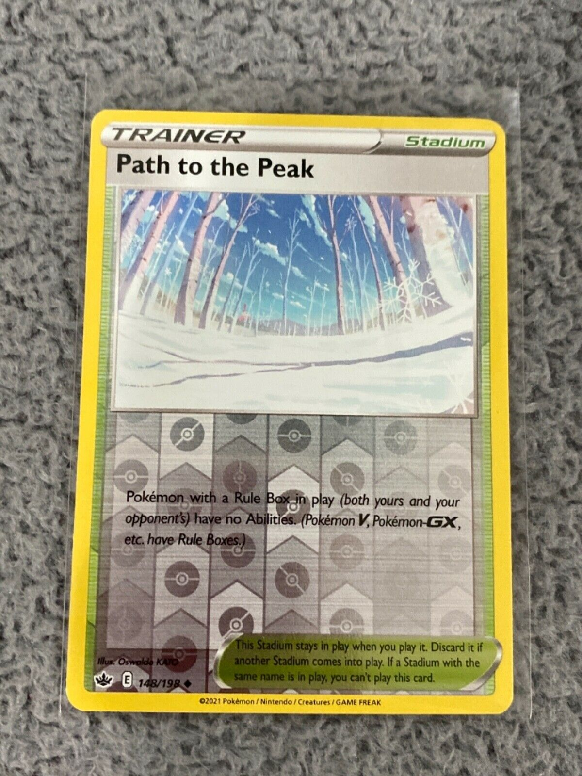 Pokemon Chilling Reign Path to the Peak Reverse Holo 148/198 In Hand