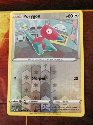 Porygon - 116/198 - Reverse Rare Pokemon Chilling Reign M/NM