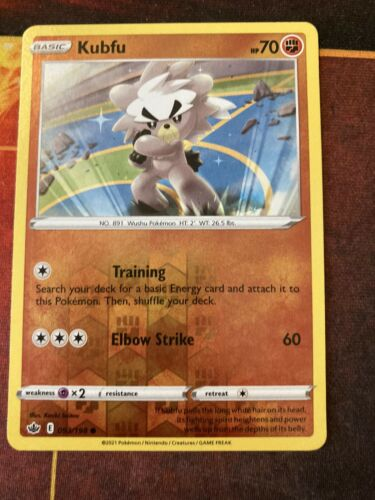 Pokemon TCG Chilling Reign Reverse Holo Kubfu 093/198-NM
