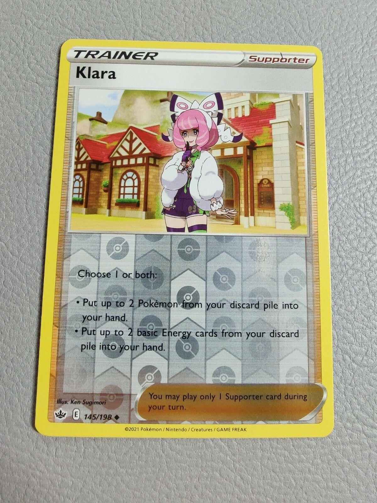 Klara | Reverse Holo | NM | Chilling Reign 145/198 | Uncommon | Pokemon