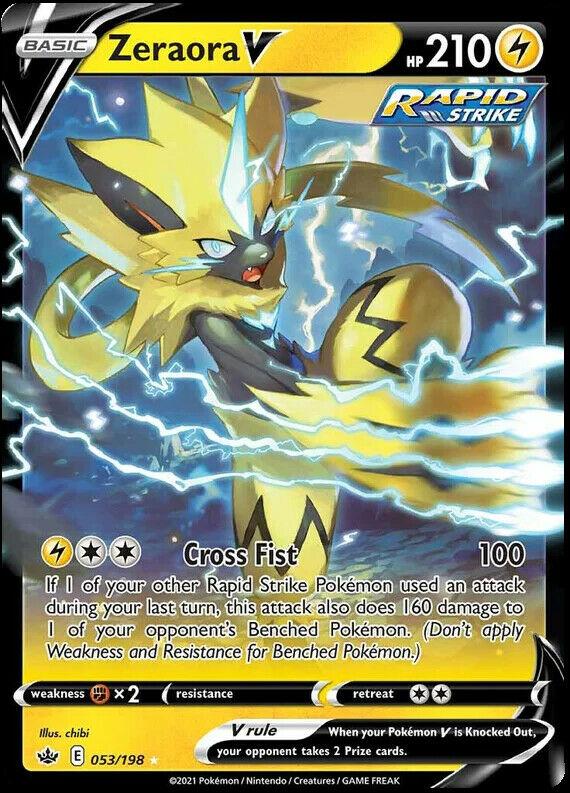 Zeraora V 053/198 NM|M- Chilling Reign Pokemon