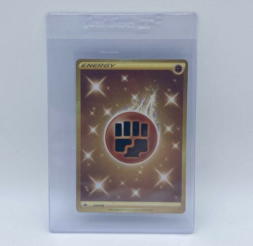 Pokémon TCG Chilling Reign Gold Fighting Energy Secret Rare 233/198 English - Image 1