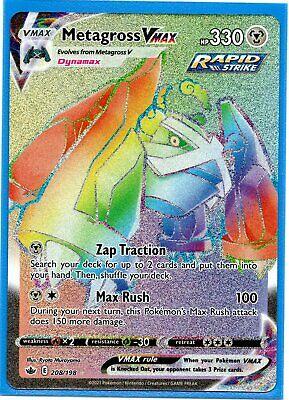 Pokemon Metagross VMAX 208/198 Secret Rare Chilling Reign NEW IN-HAND - Image 1