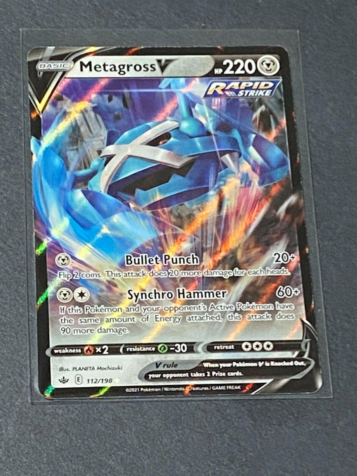 Metagross V - 112/198 - Ultra Rare Pokemon TCG SS06 Chilling Reign FULL ART