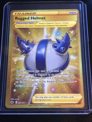 Pokemon - Rugged Helmet 228/198 - Gold Secret Rare - Chilling Reign - NM/M - Image 1