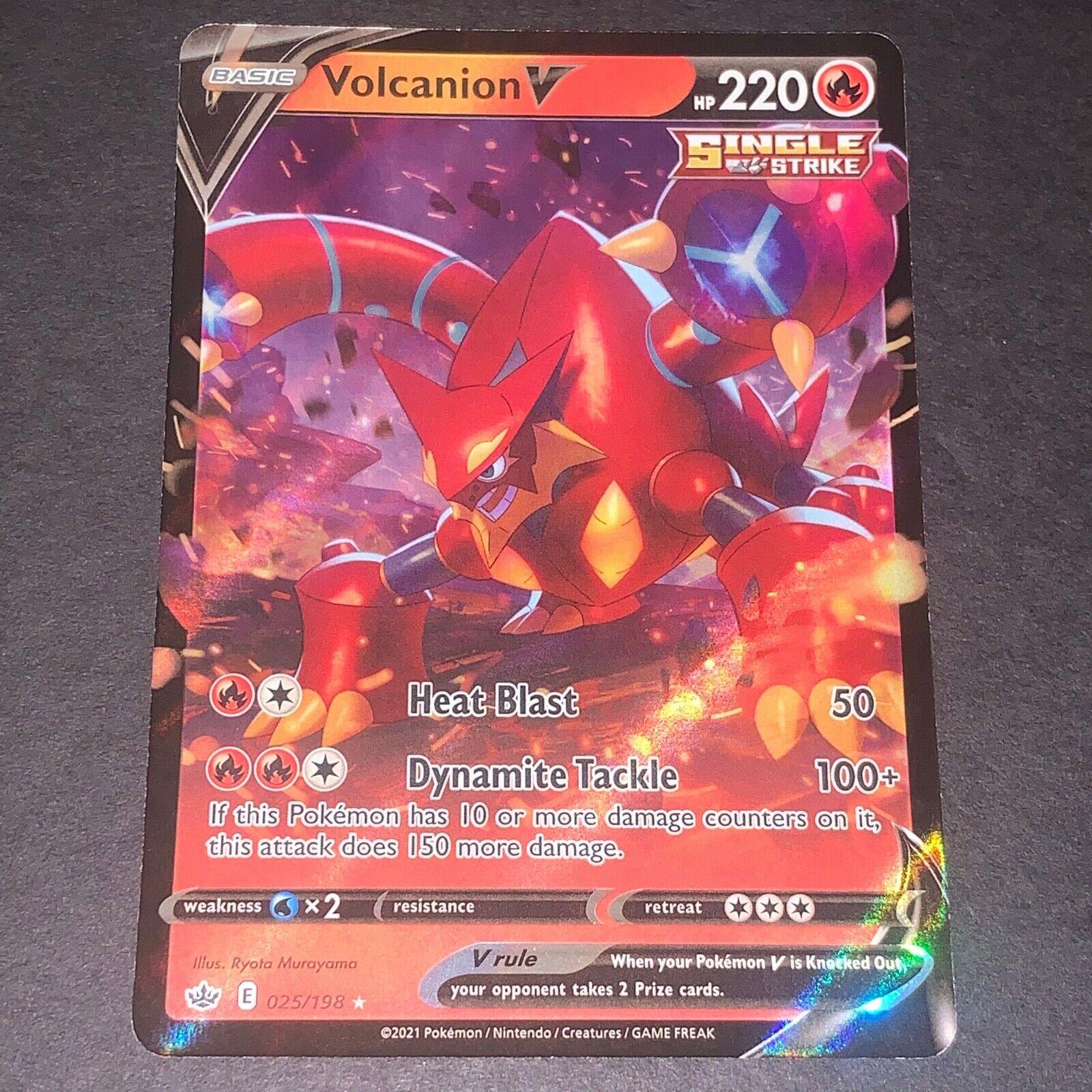 Pokemon S&S Chilling Reign Set ULTRA RARE Volcanion V 025/198 - Near Mint (NM)