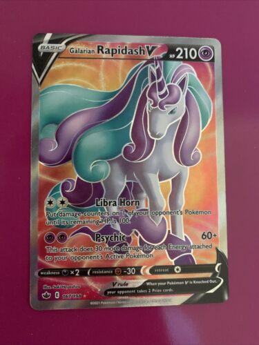 Galarian Rapidash V 167/198 Full Art NM/M Chilling Reign Pokemon Card