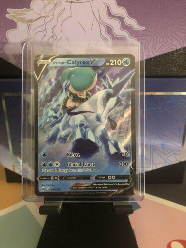 Pokemon Ice Rider Calyrex V 045/198 Chilling Reign Rare Holo Pokemon Card - Image 1