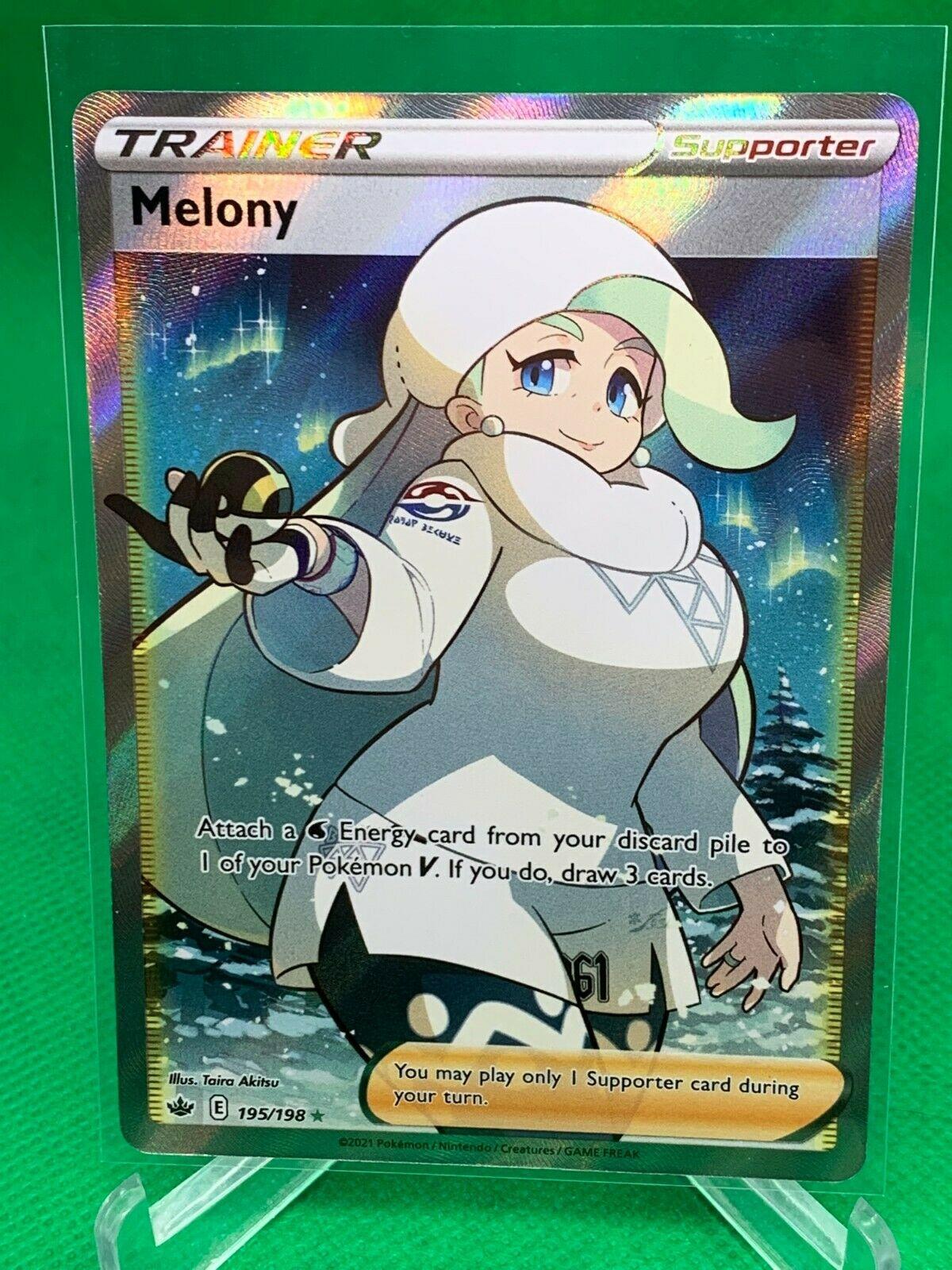 Pokemon - Melony - Chilling Reign - 195/198 - Full Art Trainer - NM