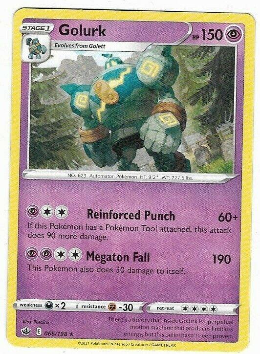 Golurk- Pokemon Card (066/198) Chilling Reign