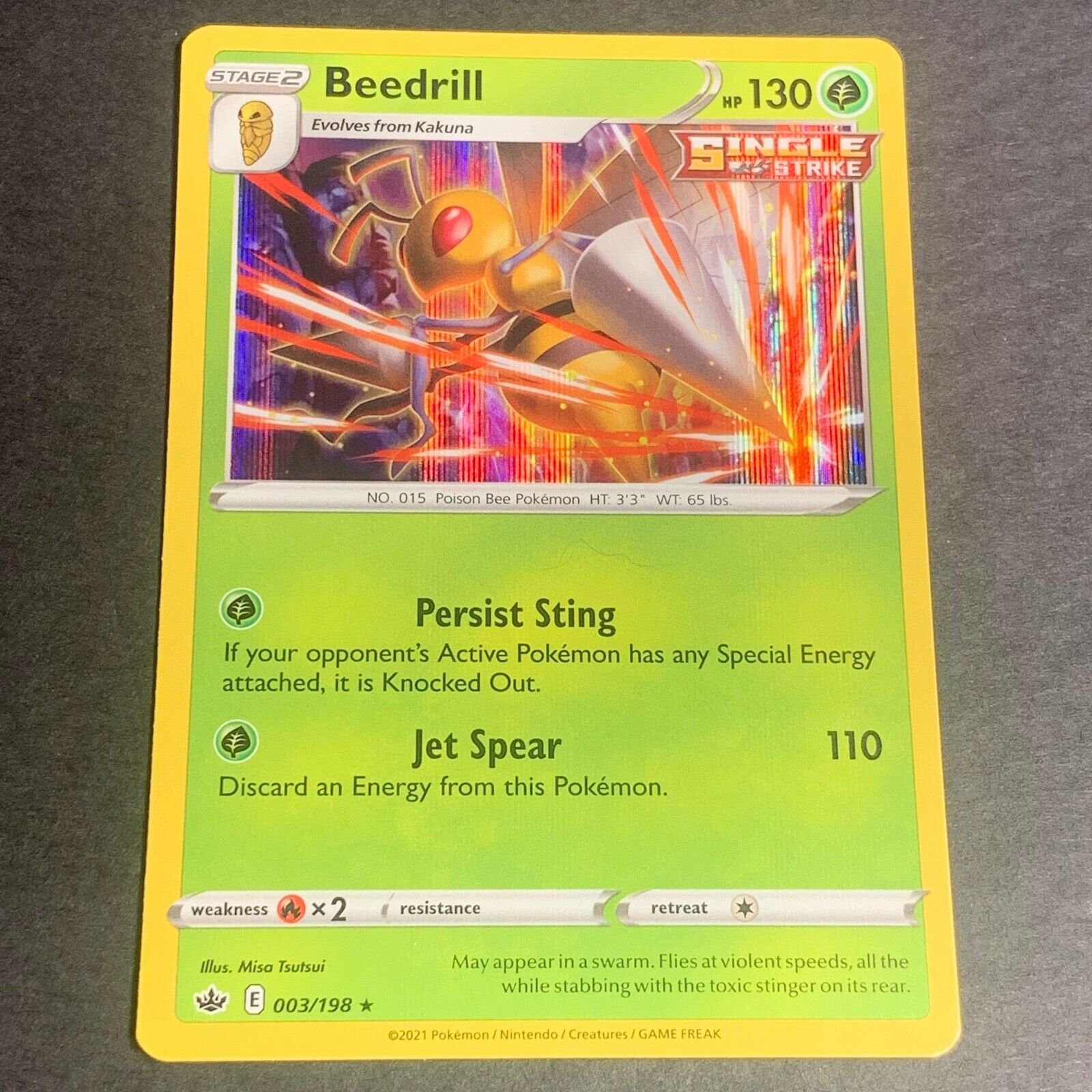 Pokemon S&S Chilling Reign Set HOLOGRAPHIC Beedrill 003/198 - Near Mint (NM)