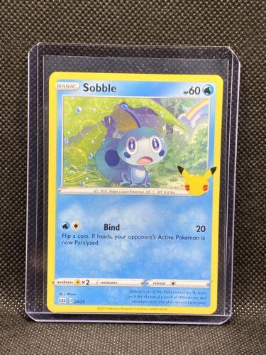 Pokemon McDonald's 25th Anniversary Sobble Base 24/25 Promo Card 2021